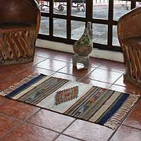 Zapotec wool rug, 'Desert Diamond'(2x3) - Hand Woven Zapotec Wool Area Rug from Mexico (2x3)