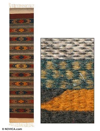 Zapotec wool runner, Stars on Earth (1.5x6)