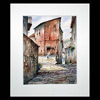 'Albarracin Teruel' (2005) - Mexican Village Realist Painting (2005)