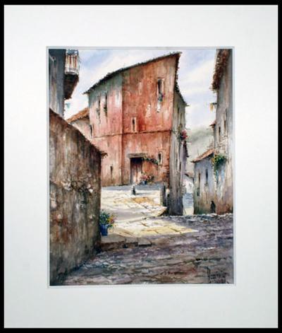 'Albarracin Teruel' (2005) - Mexican Village Realist Painting (2005)