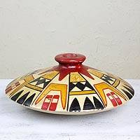 Ceramic vase, 'Northern Ancestors' - Anasazi Style Hand Made Archaeological Ceramic Vase Mexico