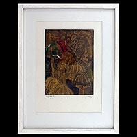 'Mushrooms' - Modern Abstract Painting