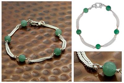 Aventurine bracelet, 'Good Luck' - Aventurine bracelet