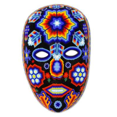 Beadwork mask, 'Star Man' - Beadwork mask