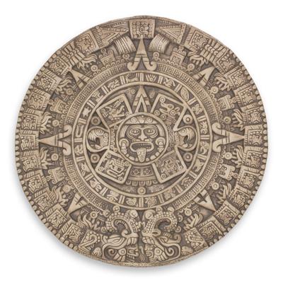 Ceramic plaque, 'Aztec Sunstone' - Mexico Collectible Archaeological Ceramic Calendar