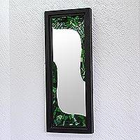 Stained glass mirror, 'River of Life' - Stained glass mirror