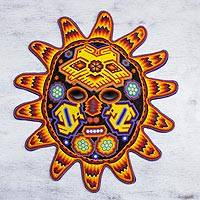 Beadwork mask, 'Red Sunset'