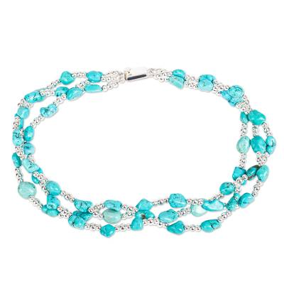 Turquoise Allure Sterling Silver Choker Necklace