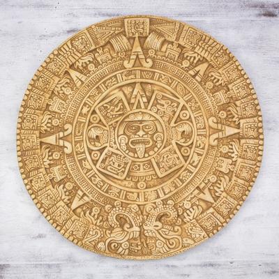 7dc0233a1 Fair Trade Mexican Archaeological Ceramic Aztec Calendar - Mexica Calendar    NOVICA