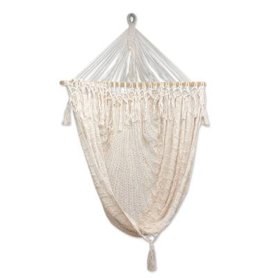 Artisan Crafted Mexican Cotton Swing Hammock