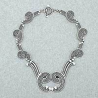 Sterling silver choker, 'Wilderness' - Handcrafted Taxco Silver Statement Necklace