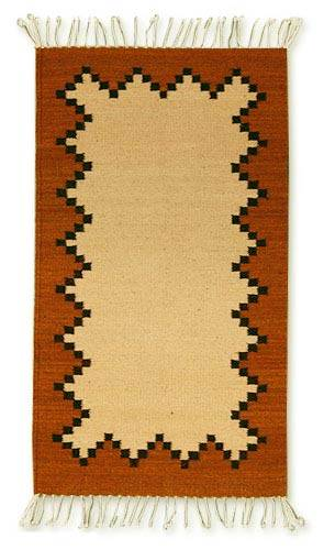 Authentic Zapotec Area Rug Organic Dyes (2x3.5)