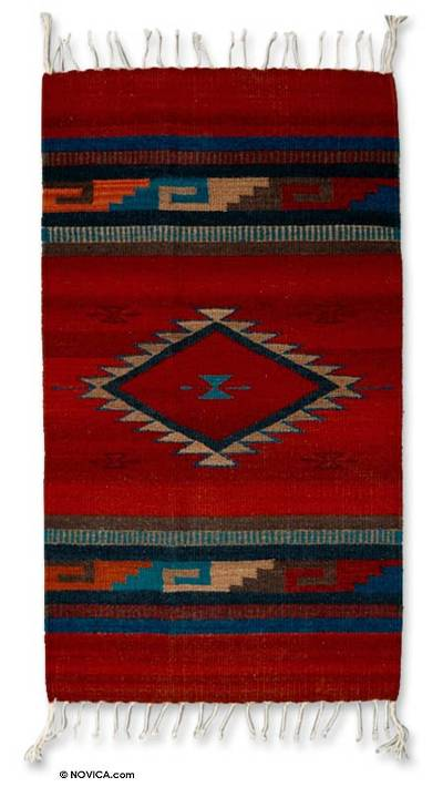Handcrafted Zapotec Rug (2.5x5)