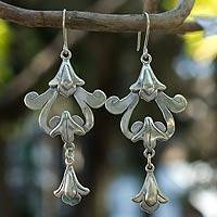 Sterling silver dangle earrings, 'Colonial Chimes'