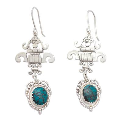 Fair Trade Sterling Silver Turquoise Earrings