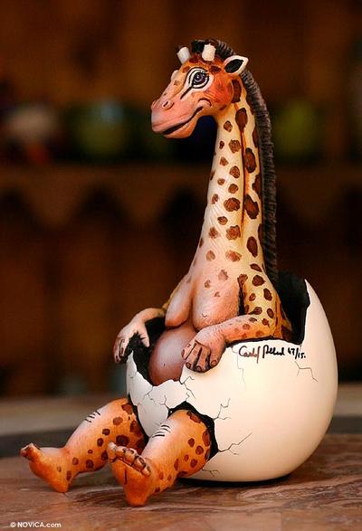 Sculpture, 'Giraffe Re-Born' - Sculpture
