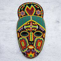 Beadwork mask, 'Cornfield Protectors' - Beadwork mask