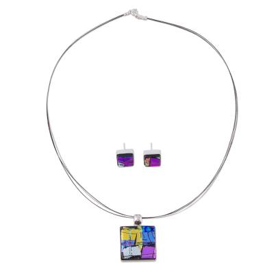 Handcrafted Modern Glass Jewelry Set