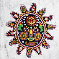 Beadwork mask, 'Desert Sun' - Beadwork mask
