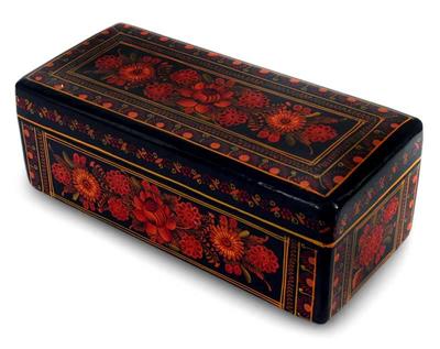 wood decorative box mexican bouquet bouquet lacquered wood decorative box olinala art - Decorative Box