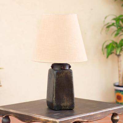 Delicieux Fair Trade Ceramic Handmade Table Lamp, U0027Obelisk Lightu0027
