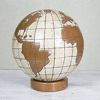 Ceramic statuette, 'Our Planet' - Ceramic statuette