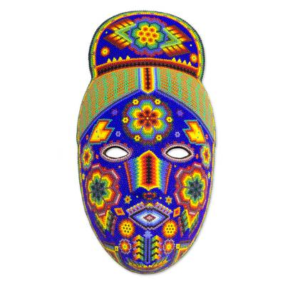 Beadwork mask, 'Life, Fortune and Success' - Beadwork mask