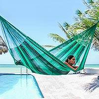 Hammock, 'Caribbean Dream' (single) - Handcrafted Rope Hammock (Single)