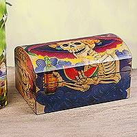 Decoupage chest, 'Catrina My Love'