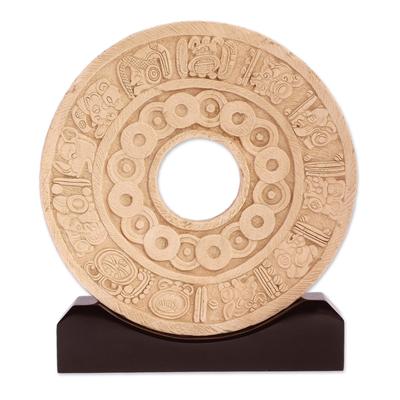 Sculpture, 'Pre-Hispanic Ball Game' - Sculpture