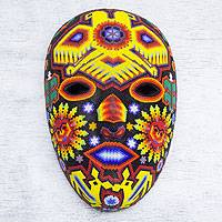 Beadwork mask, 'Duality of the Gods' - Authentic Huichol Hand Beaded Eagle Mask