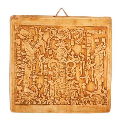 Ceramic Plaque of Art from Palenque