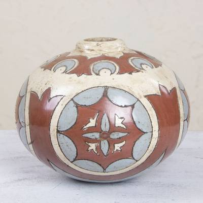 Ceramic vase, '1001 Nights Globe' - Ceramic vase