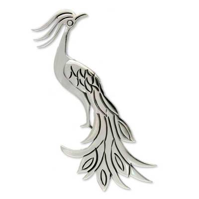 Sterling silver brooch pin