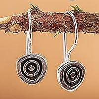 Sterling silver drop earrings, 'Hypnotize'