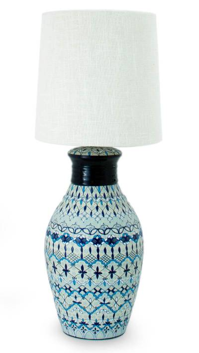 Hand Painted Ceramic Table Lamp