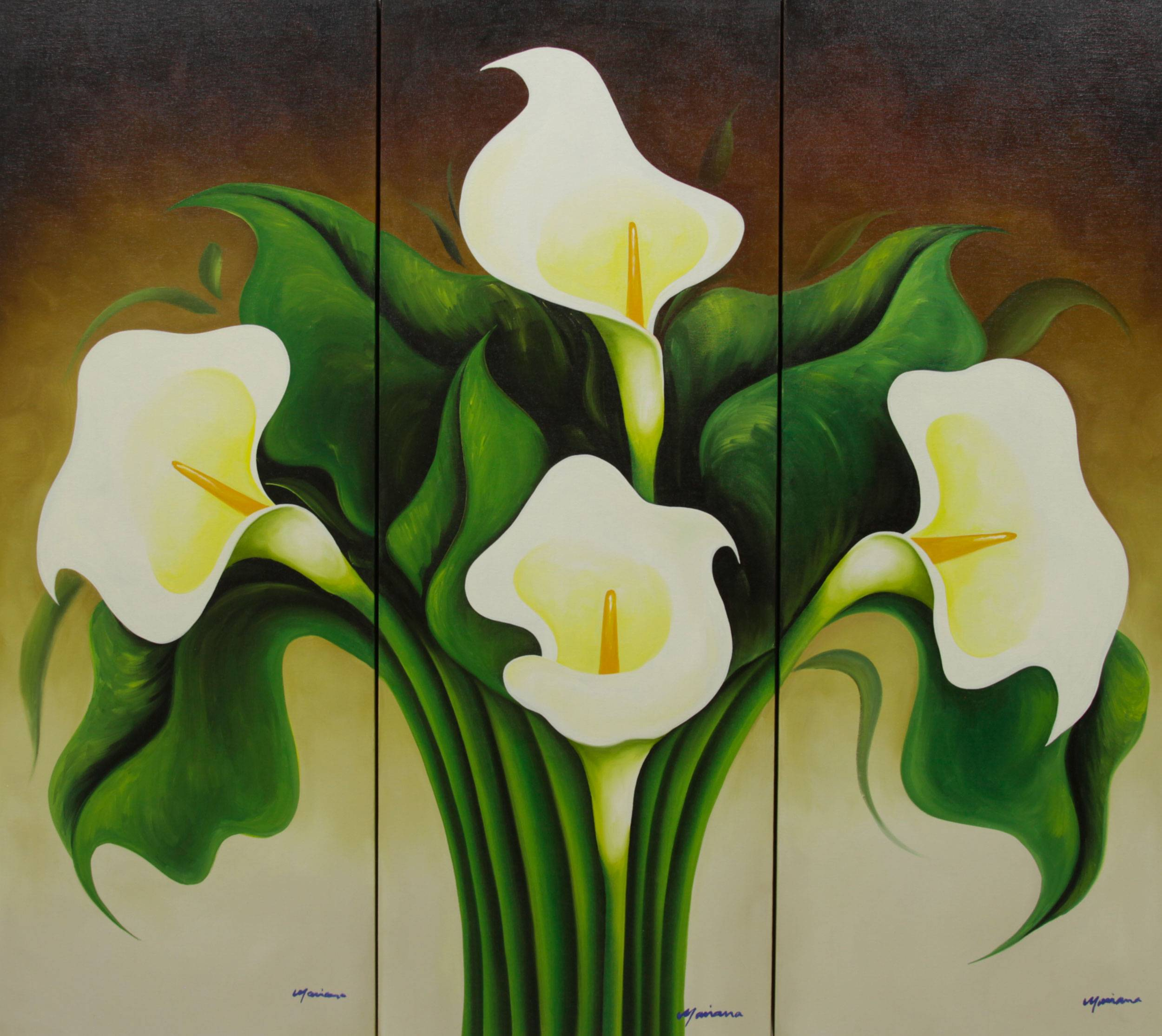 How To Paint A Calla Lily With Oil