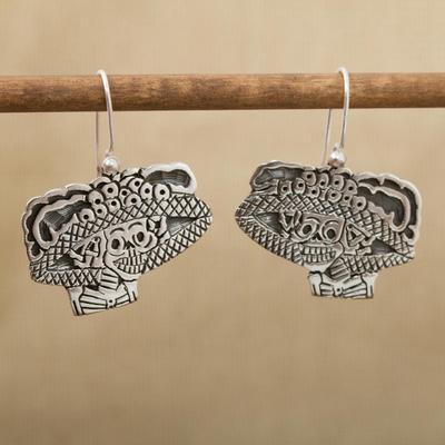 Sterling silver dangle earrings, 'Catrina Flirt' - Sterling silver dangle earrings