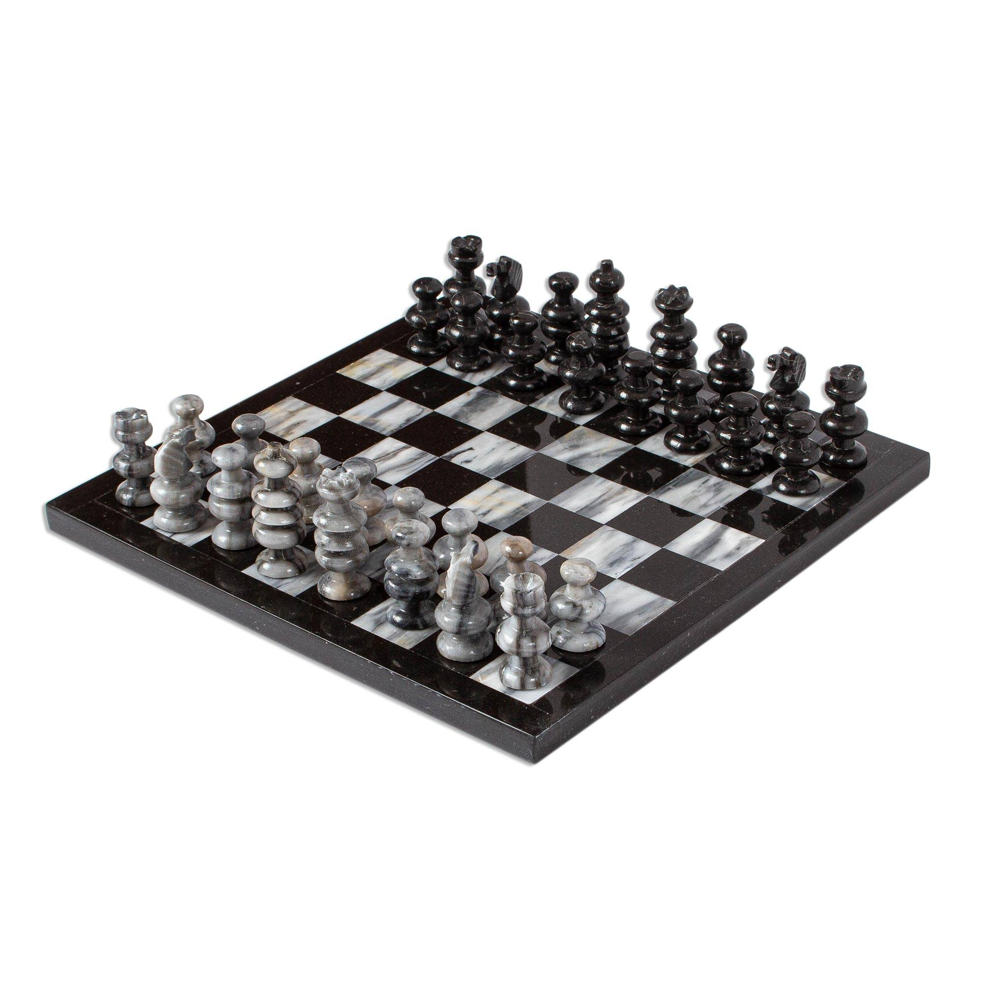 a73f6741696ba4 Hand Carved Marble Chess Set