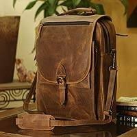 Featured review for Leather messenger bag, Free Spirit