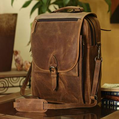 a8ca8244c5 Leather messenger bag - Free Spirit