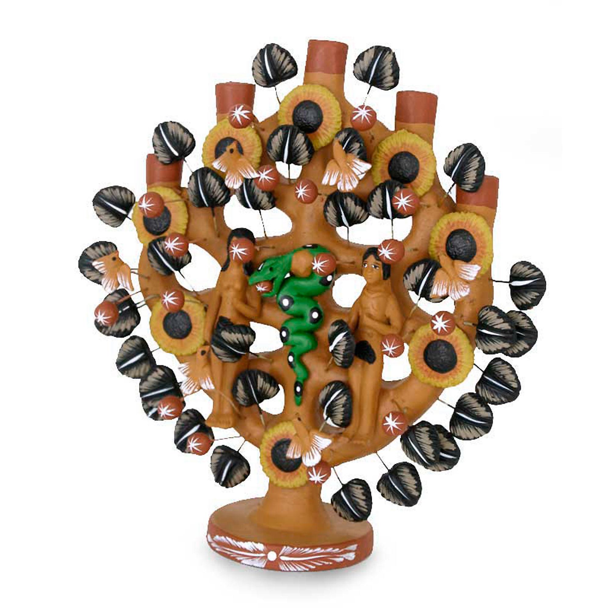 mexican folk art hand crafted religious ceramic sculpture adam