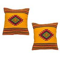 Zapotec wool cushion covers,
