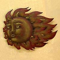 Steel wall art, 'The Sun's Song' - Mexican Sun Wall Sculpture