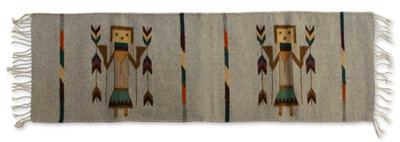 Zapotec wool rug, 'Women of Power' (1.5x4) - Zapotec wool rug (1.5x4)
