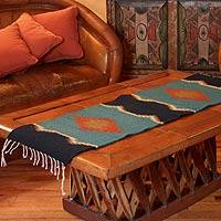 Zapotec wool rug, 'Verdant Hills' (1.5x4) - Unique Zapotec Wool Area Rug (1.5x4)