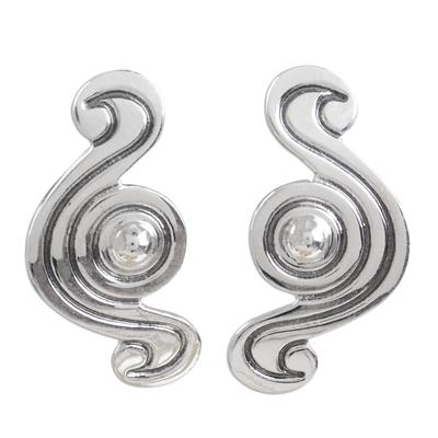 Handmade Taxco Silver Modern Mexican Earrings