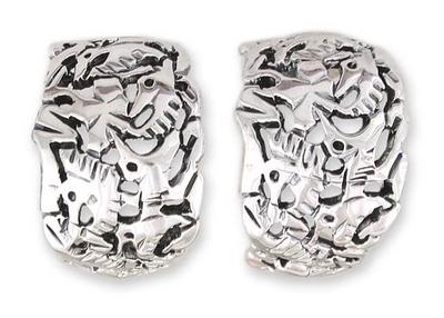 Silver 950 Bird Earrings Handmade in Mexico
