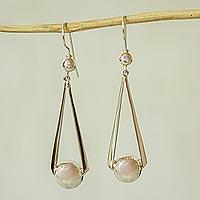 Sterling silver dangle earrings, 'Swing Dance' - Handmade Taxco Silver Dangle Earrings from Mexico