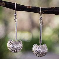 Sterling silver dangle earrings, 'Moonbeams' - Sterling silver dangle earrings